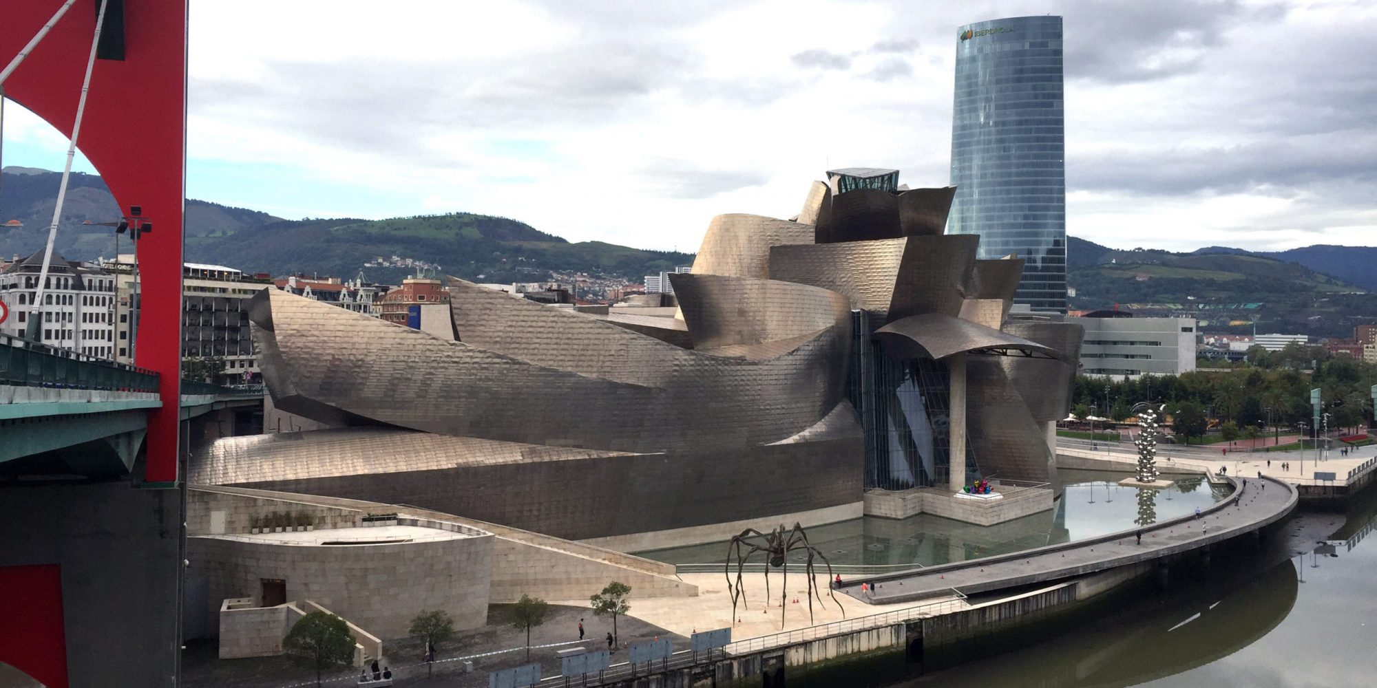 Guggenheim Museum From La Salve Bridge, Bilbao